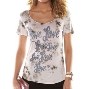 "Juicy Couture Sparkly ""Love"" T-Shirt Small"